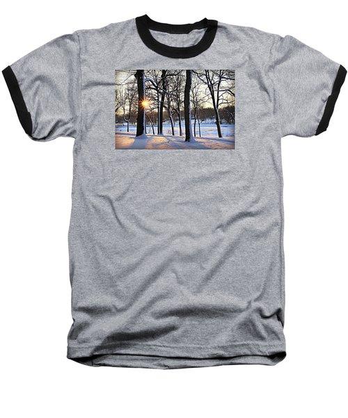 Snow Starred Grove Baseball T-Shirt