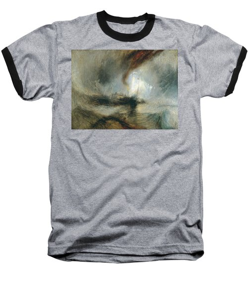 Baseball T-Shirt featuring the painting Snow Storm by Joseph Mallord William Turner
