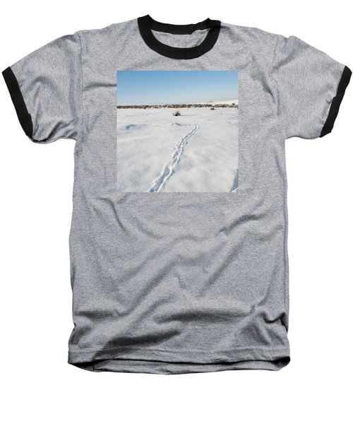 Snow Tracks Baseball T-Shirt