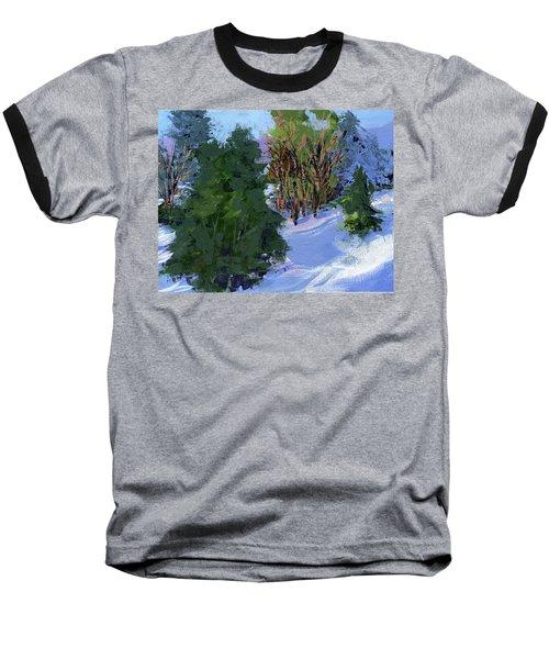 Snow Trees Baseball T-Shirt