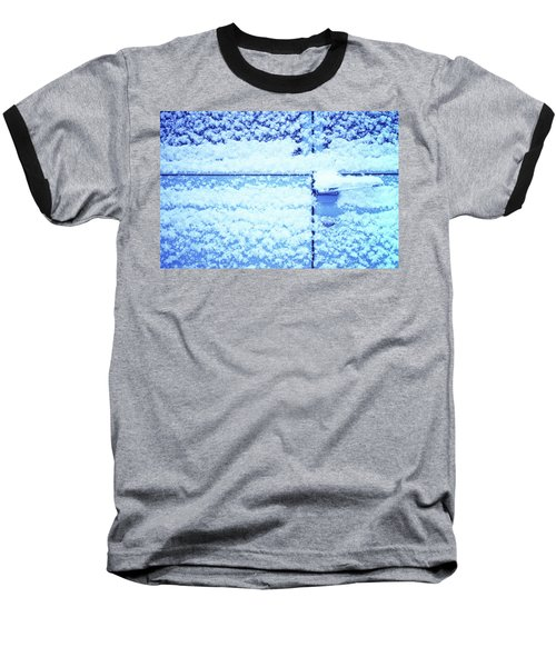 Snow Van 51 Chevy Panel Baseball T-Shirt by Laurie Stewart