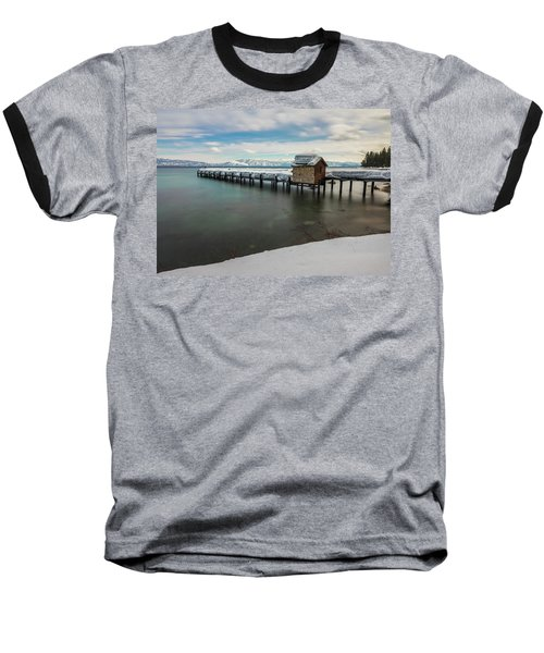 Snow White Pier Baseball T-Shirt