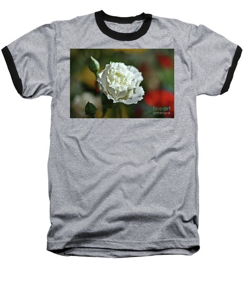 Baseball T-Shirt featuring the photograph Snow White by Stephen Mitchell