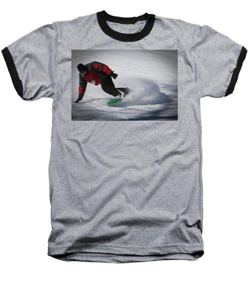 Baseball T-Shirt featuring the photograph Snowboarder On Mccauley by David Patterson