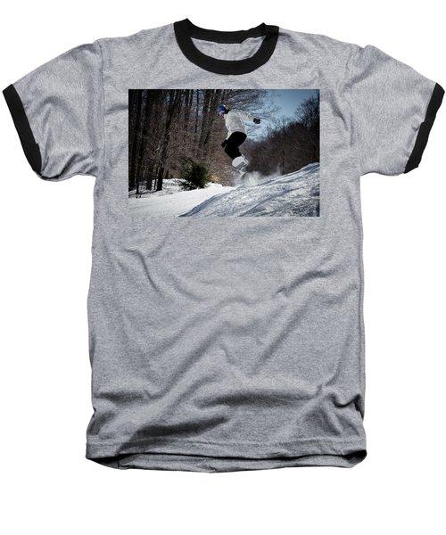 Baseball T-Shirt featuring the photograph Snowboarding Mccauley Mountain by David Patterson