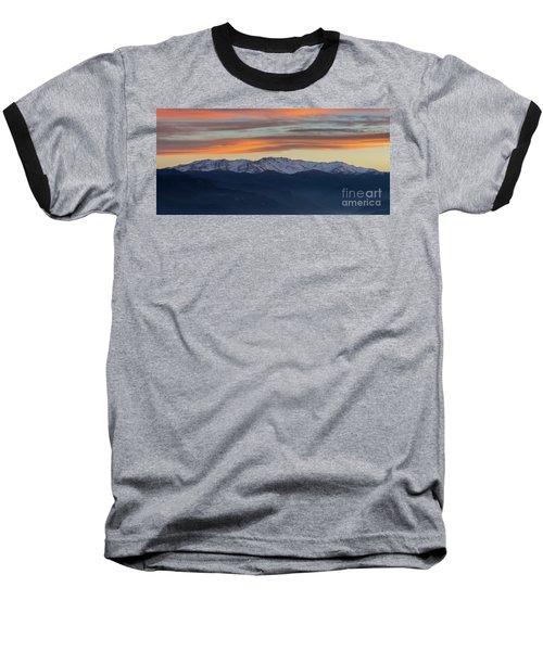 Snowcapped Miapor Range Under Golden Clouds, Armenia Baseball T-Shirt