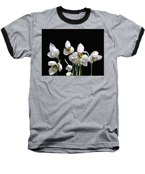 Snowdrop Flowers Baseball T-Shirt