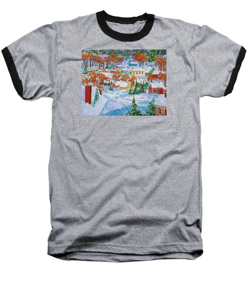 Snowed In Baseball T-Shirt by Mike Caitham