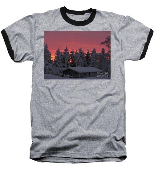 Snowed In Baseball T-Shirt by Rod Jellison
