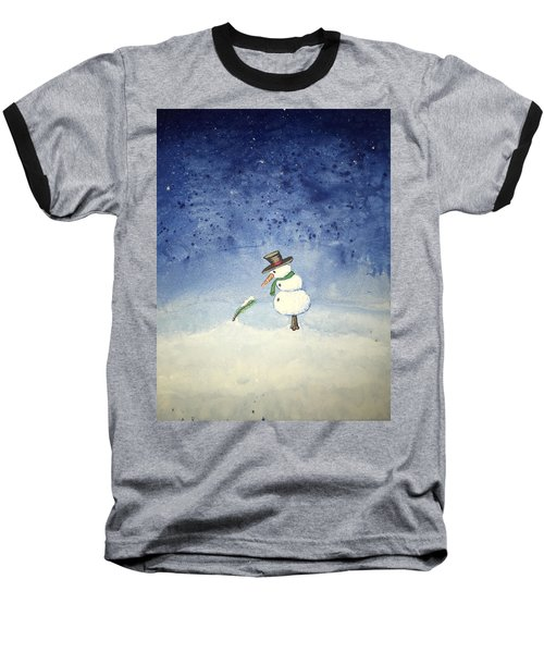 Baseball T-Shirt featuring the painting Snowfall by Antonio Romero
