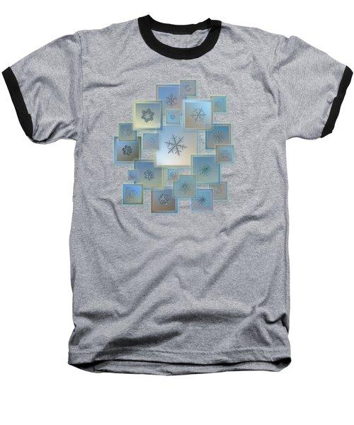 Snowflake Collage - Bright Crystals 2012-2014 Baseball T-Shirt
