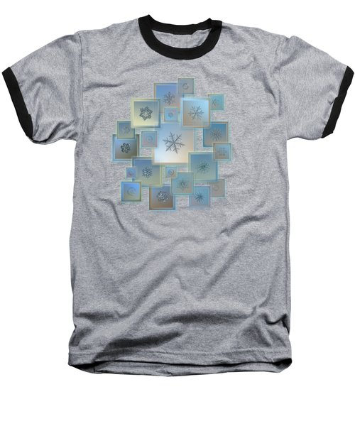 Snowflake Collage - Bright Crystals 2012-2014 Baseball T-Shirt