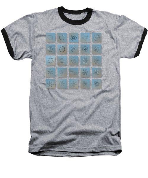 Snowflake Collage - Season 2013 Bright Crystals Baseball T-Shirt