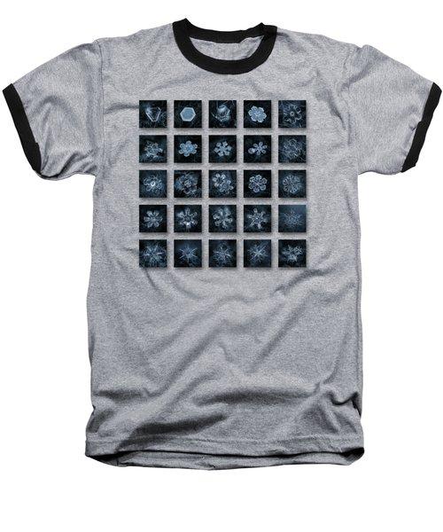 Snowflake Collage - Season 2013 Dark Crystals Baseball T-Shirt