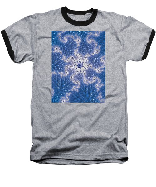Baseball T-Shirt featuring the photograph Snowflake Embroidered by Ronda Broatch
