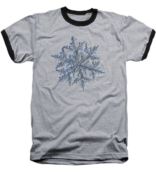 Snowflake Macro Photo - 13 February 2017 - 3 Black Baseball T-Shirt