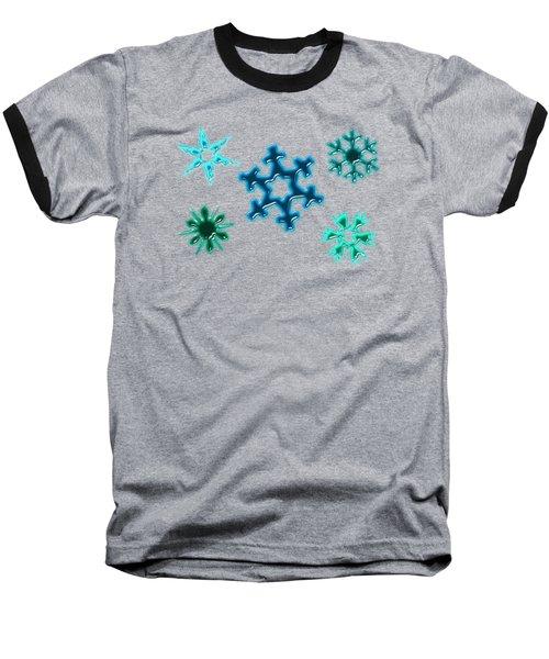 Snowflake Pattern Baseball T-Shirt