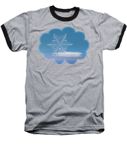 Snowflake Photo - Cloud Number Nine Baseball T-Shirt