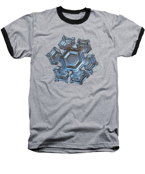 Baseball T-Shirt featuring the photograph Snowflake Photo - Cold Metal by Alexey Kljatov