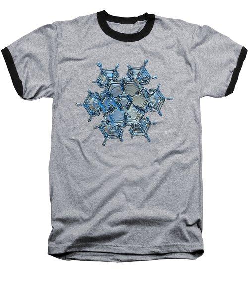 Snowflake Photo - Flying Castle Alternate Baseball T-Shirt