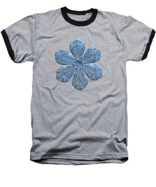 Snowflake Photo - Forget-me-not Baseball T-Shirt