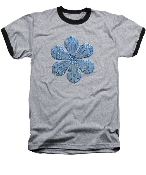 Snowflake Photo - Forget-me-not Baseball T-Shirt