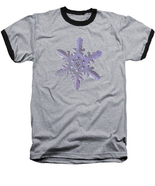 Snowflake Photo - Heart-powered Star Baseball T-Shirt by Alexey Kljatov