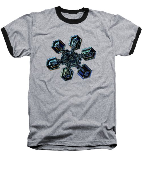 Snowflake Photo - High Voltage IIi Baseball T-Shirt by Alexey Kljatov