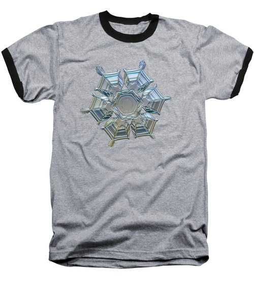 Snowflake Photo - Ice Relief Baseball T-Shirt