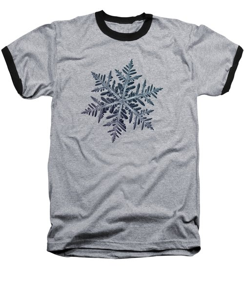 Snowflake Photo - Neon Baseball T-Shirt