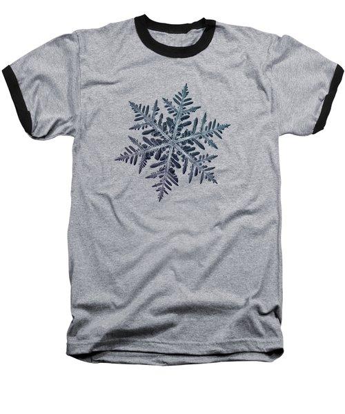 Snowflake Photo - Neon Baseball T-Shirt