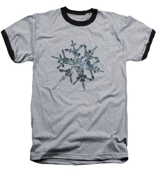 Snowflake Photo - Rigel Baseball T-Shirt by Alexey Kljatov