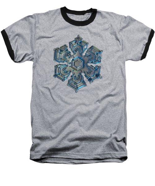 Snowflake Photo - Silver Foil Baseball T-Shirt