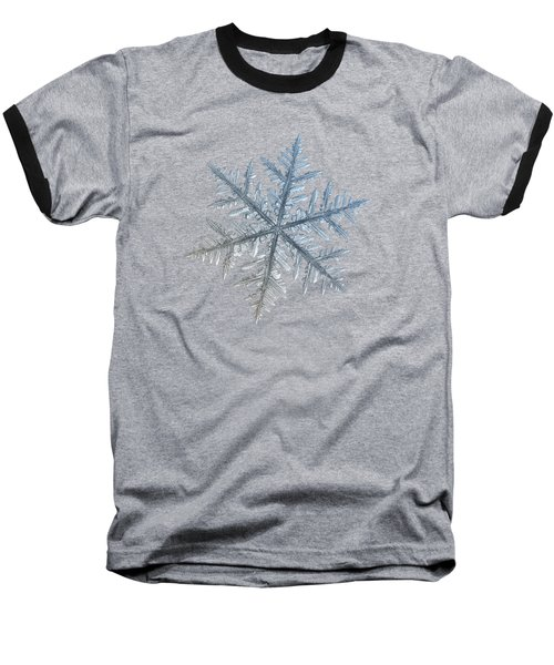 Snowflake Photo - Silverware Baseball T-Shirt