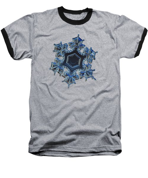 Snowflake Photo - Spark Baseball T-Shirt by Alexey Kljatov