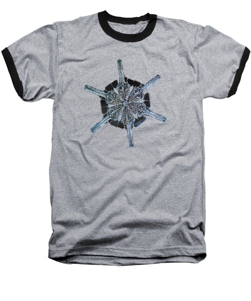 Snowflake Photo - Steering Wheel Baseball T-Shirt