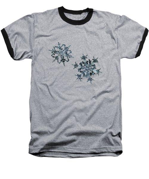 Snowflake Photo - When Winters Meets - 2 Baseball T-Shirt