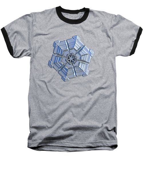 Baseball T-Shirt featuring the photograph Snowflake Photo - Winter Fortress by Alexey Kljatov