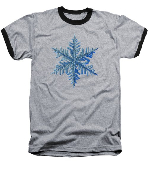 Baseball T-Shirt featuring the photograph Snowflake Photo - Winter Is Coming by Alexey Kljatov