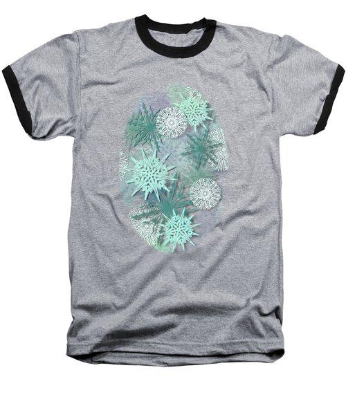 Snowflakes Baseball T-Shirt by AugenWerk Susann Serfezi