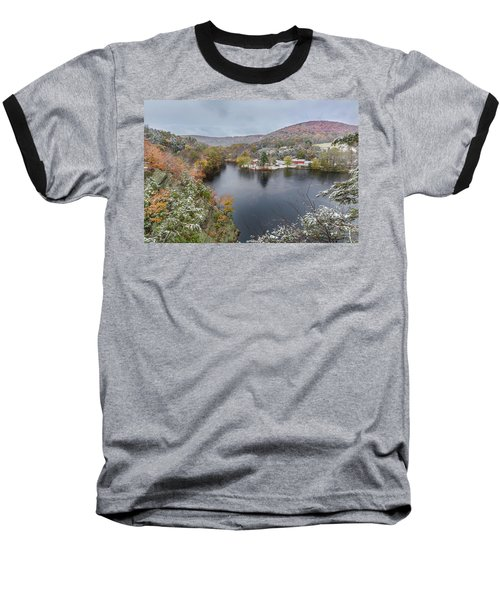 Baseball T-Shirt featuring the photograph Snowliage by Bill Wakeley