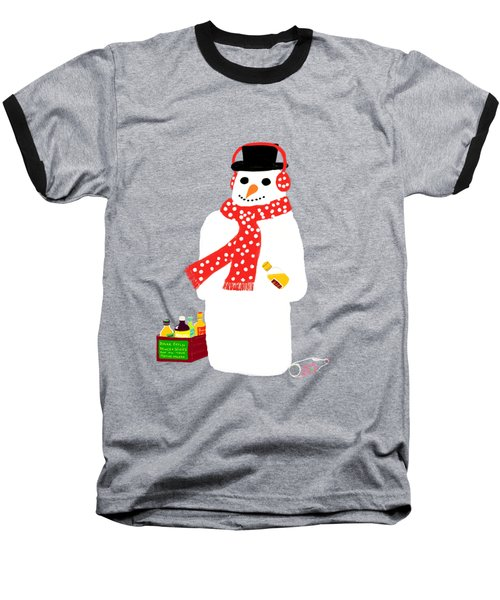 Baseball T-Shirt featuring the digital art Snowman by Barbara Moignard