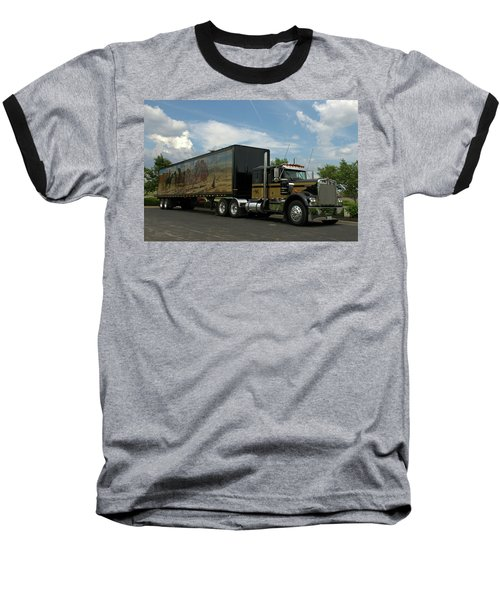 Snowmans Dream Replica Semi Trruck Baseball T-Shirt