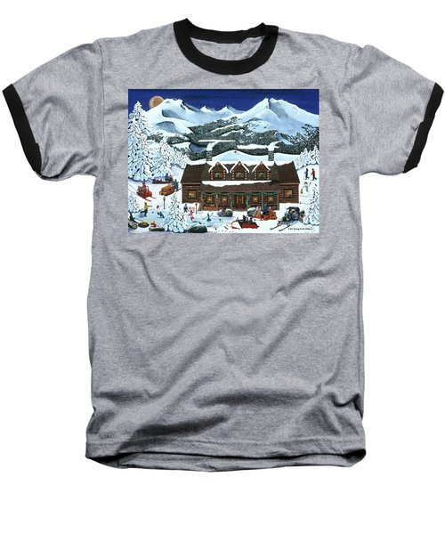 Snowmobile Holiday Baseball T-Shirt