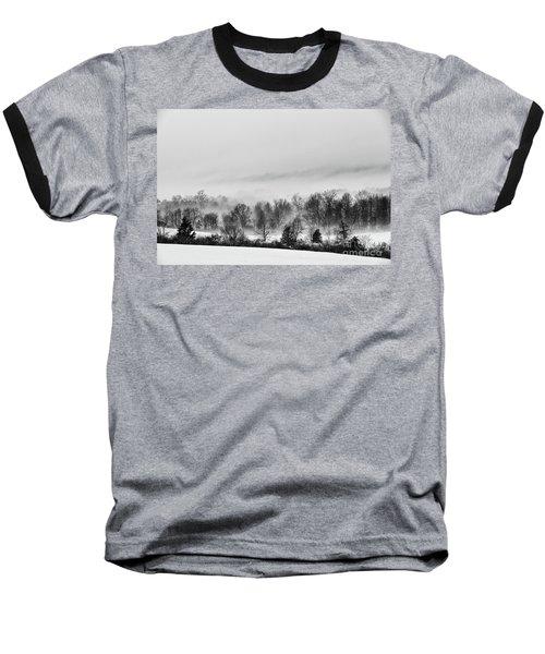 Snowscape Baseball T-Shirt by Nicki McManus
