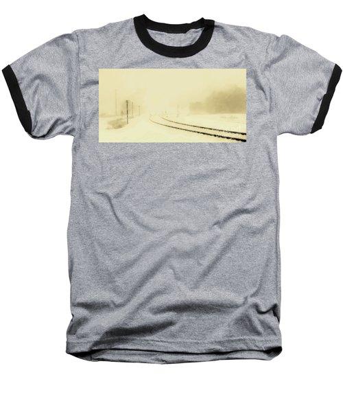 Snowstorm In The Yard S Baseball T-Shirt