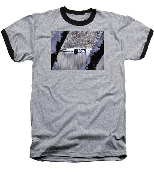 Snowy Bear River Baseball T-Shirt