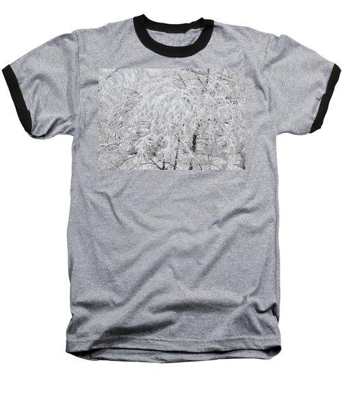 Snowy Branches Baseball T-Shirt
