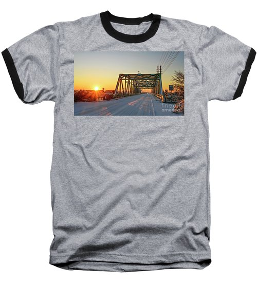 Snowy Bridge Baseball T-Shirt
