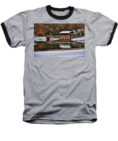 Snowy Bridge Baseball T-Shirt